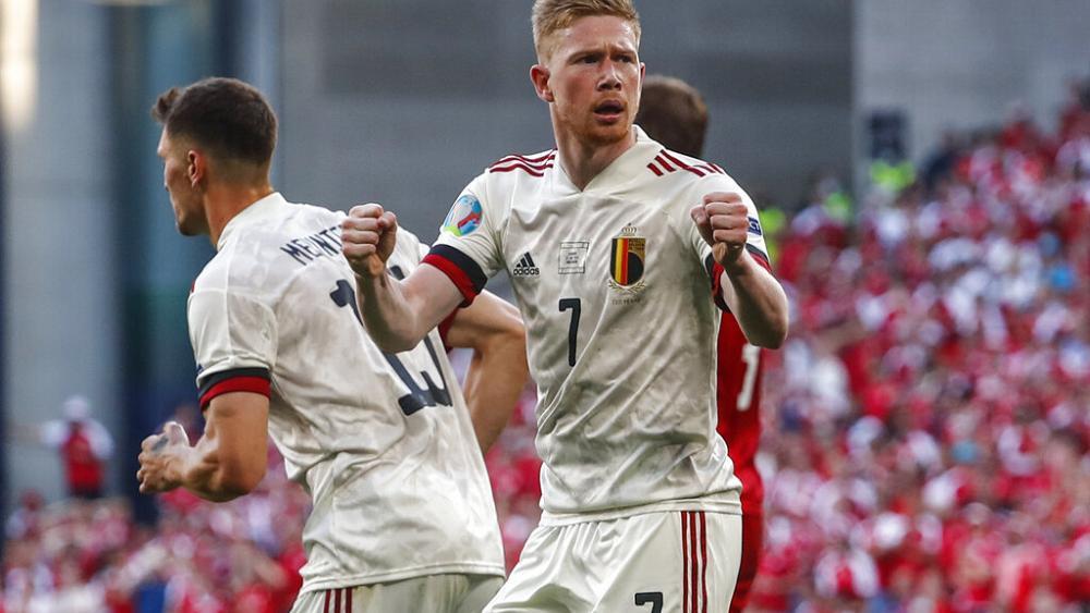 Belgium triumph over Denmark as fans pay tribute to Christian Eriksen