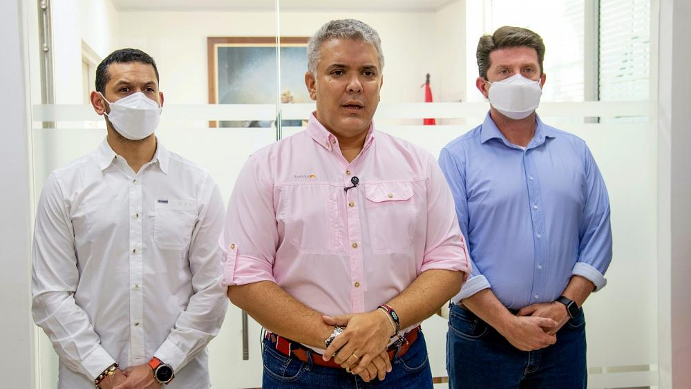 Everyone 'safe' after Colombia president's helicopter attacked