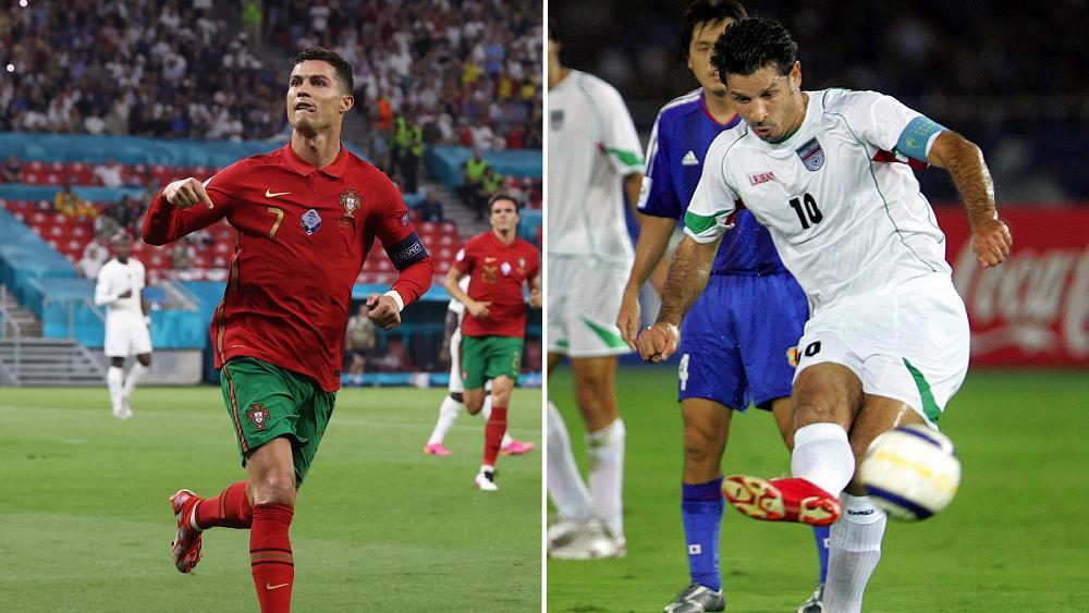 Iranian footballer 'glad' Portugal's Cristiano Ronaldo could break goals record